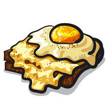 Toast with egg and cheese Royalty Free Stock Photo