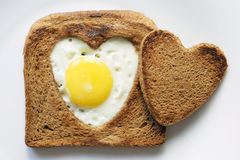 Toast and egg Royalty Free Stock Images