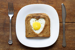 Toast with egg Royalty Free Stock Image