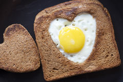 Toast with egg Stock Images