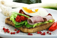 Toast with egg and ham Stock Photography