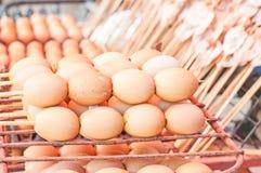 Toast Egg. On hot gridiron Stock Photography