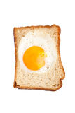 Toast with egg inside stock images