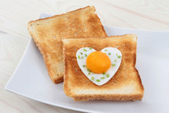 Toast with egg Royalty Free Stock Images