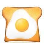Toast with egg vector illustration Royalty Free Stock Images
