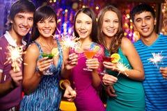 Toast für neues Jahr Lizenzfreies Stockfoto