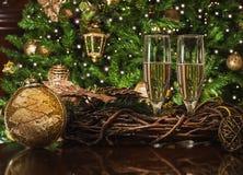 Toast für Weihnachtsfest Stockfoto