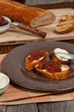 Toast with fig jam Royalty Free Stock Images