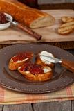 Toast with fig jam Royalty Free Stock Photo