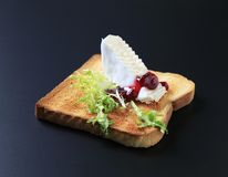 Toast and French cheese Stock Photo