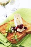 Toast and French cheese Royalty Free Stock Images