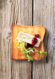 Toast and French cheese Royalty Free Stock Image