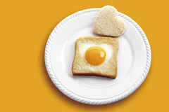 Toast with fried egg Royalty Free Stock Photo