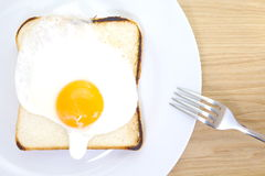 Toast with fried egg Stock Image