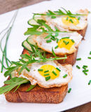 Toast with fried egg Stock Photo