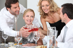Toast with friends Royalty Free Stock Photo