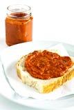 Toast geschmiert mit Chutney Lizenzfreies Stockfoto