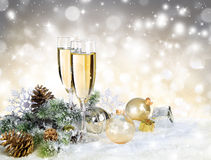 Toast with gold decoration Stock Image
