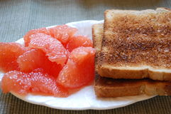 Toast and Grapefruit Royalty Free Stock Image
