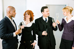 Toast with a group of people Stock Photo