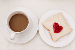 Toast with heart Stock Images