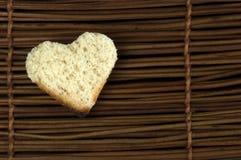 Toast with heart-shaped Royalty Free Stock Photos