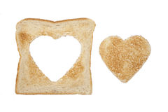 Toast heart Stock Images