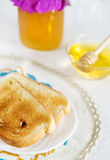 Toast and honey Royalty Free Stock Photos