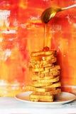 Toast & honey Royalty Free Stock Images