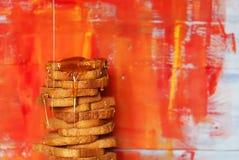 Toast & honey Royalty Free Stock Photography