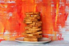 Toast & honey Royalty Free Stock Photos