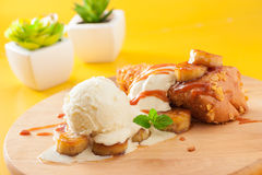 Toast with ice cream Stock Images