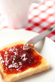 Toast with jam Stock Photo