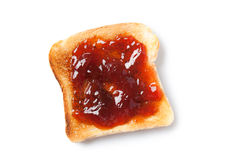 Toast with jam Stock Photos