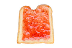 Toast with jam Royalty Free Stock Image