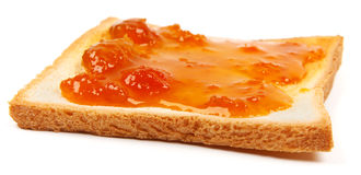 Toast with jam Stock Photos