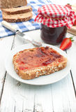 Toast and jam stock photo