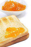 Toast with jam Stock Photography