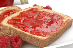 Toast and Jam Royalty Free Stock Photo