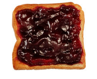 Toast with Jam Stock Image