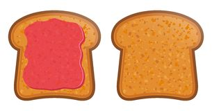 Toast with jam vector illustration