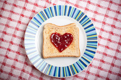 Toast with jam Stock Images
