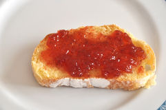 Toast with jam Royalty Free Stock Images