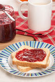 Toast and jam Royalty Free Stock Photography