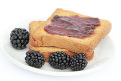 Toast with jam Stock Image