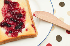 Toast and jam for breakfast Royalty Free Stock Image