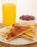 Toast and Jam Breakfast Stock Photography