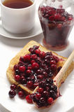 Toast with jam and jar Royalty Free Stock Images