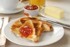 Toast with jelly Stock Photos