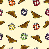 Toast and Jelly Seamless Background Royalty Free Stock Images